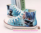 Hand Made Tokyo Ghoul Kaneki Ken Canvas Shoes Unisex Casual High Top Sneakers