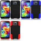 For Samsung Galaxy Alpha G850 Hard Stand Soft Silicone Skin Case 2-Piece Cover