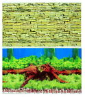 "Aquarium poster H 20"" Fish Tank Background 2 sided picture IMAGE wall Decor new"