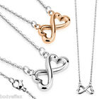 CUTE WOMENS 316L STAINLESS STEEL CHAIN NECKLACE WITH INFINITY HEART