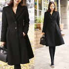 Korean Fashion Women's Luxurious Knee Length A-Line Wool Coat-2 sizes