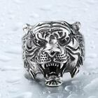 stainless steel gift - Mens Gift Silver Stainless Steel Jewelry Biker Leopard Head Rings Size 8-11