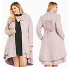 Torrid Sanrio Hello Kitty Pink Lace-Up Victorian Trench Coat Plus Size 0X or 1X