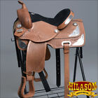 T100 HILASON TREELESS WESTERN BARREL RACING TRAIL PLEASURE SADDLE 14 15 16 17 18