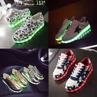 Unisex 7LED Light Lace Up Luminous Shoes Sneaker Sportswear USB Rechargeable NEW