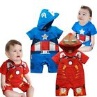 S049 Baby Costume Short Ironman Captain American Carnival Fancy Dress 6-18M