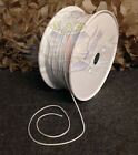 NEW MOD SURPLUS WHITE POLYESTER BRAIDED TWINE 3mm X 10m-WEBBING,BASHA,LACE