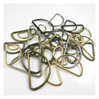 SOLID ROUND BRASS ALLOY D-RINGS FOR WEBBING BUCKLES 8 SIZES 15MM-50MM 4 COLOURS