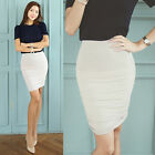 Korean Fashion Women's Ruched Side Jersey Mini Skirt-2 colors