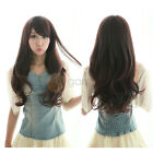 New Lady Fashion Long Curly Wavy Hair Side Bang Full Wig Cosplay Party Wig Women