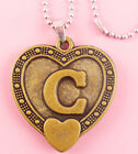 P087 Acrylic pendant iron or Stainless Steel chain U pick Letter C love heart
