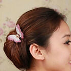 2016 New Fashion Butterfly Claw Crystal Alloy Rhinestone Hair Clip Jaw Hairpin