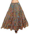 Carrel Imported Cotton Fabric Printed Long Skirt For Women. 3488