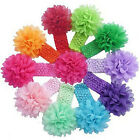 New Kids Baby Girls Toddler Infan Lace Flower Headband Hair Band Accessories