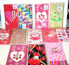 VALENTINES DAY TREAT BAGS 10 or 12 PK SET PAPER CANDY COOKIE PARTY LUNCH SCHOOL