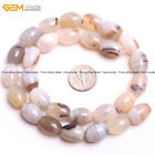"""Wholesale Natural GemstoneOlivary Gray Leaf Agate Stone Loose Beads Strand 15"""""""