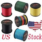 100M-1000M 10LB-100LB Army Green Multicolor 100%pe Dyneema Braided Fishing Line