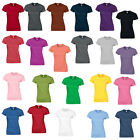 New GILDAN Womens Ladies Soft Style Cotton Fitted T Shirt 28 Colours Size 10-18