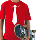 TIE RED & WHITE YOUTH T SHIRT BOYS & GIRLS RETRO COSTUME PARTY GIFT FASHION