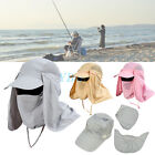 Fishing Outdoor Hiking Unisex Hunting Snap Hat Brim Ear Neck Cover Sun Flap Cap