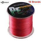 16 Strands 100M-2000M 20LB-300LB Red Hollow Super Strong Braided Fishing Line