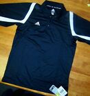 Adidas Polo Shirt Black W Big Game Cci Short Sleeve Misses size Small New
