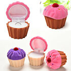 Pretty Jewelry Box Cute Candy Color CupCake Ring Earrings Storage Velvet Boxes B