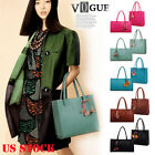 Fashion Women Girls Handbags Leather Shoulder Bag Candy Color Flowers Tote Vogue