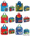 Stephen Joseph Boys Quilted Backpack and Lunch Boxes for Kids - Cute Book Bags