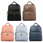Women PU Leather Backpack Rucksack Satchal Travel Campus School Handbag 1555