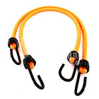 LUMINOUS ORANGE 10mm LUGGAGE ELASTICS, BUNGEE STRAPS SHOCK CORD SPIRAL HOOK ENDS