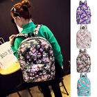 Casual Style Fresh Rural Style Flowers Pattern High-grade Canvas Female Backpack