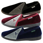 Men's Dunlop Velour Slip On Elasticated Twin Gusset Outdoor Sole Shoe Slippers