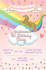Personalised Girl/Adult Unicorn Birthday Party Invites inc envelopes UNI1