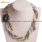 Multi-Beads Strands Cluster Mala Beads Necklace Bracelet Fashion Jewelry Sets