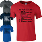 My Perfect Day Porsche T-Shirt Fathers Day Dad Sport Car To Do List Men Gift Top