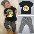 2PCS Newborn Toddler Infant Baby Kids Boy Clothes T-shirt Tops Pants Outfits Set