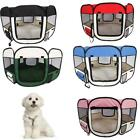 "45"" Dog Kennel Pet Fence Puppy Oxford Playpen Exercise Pen Folding Crate"
