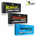 BCAA & CREATINE MONOHYDRATE & TESTOXEED 90/180 CAPS STRONG ANABOLIC TESTOSTERONE