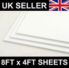 2440 x 1220mm (8x4ft) 3mm 5mm 10mm White Matt Foamex PVC Foam Board Panel Sheet