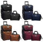 Amsterdam 2pc Carry-on Expandable Rolling Luggage Suitcase Tote Bag Travel Set