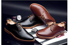 Mens Casual/Dress Formal Oxfords Flats Shoes England Lace Up Shoes Synthetic New