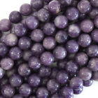 Purple Lepidolite Round Beads Gemstone 15.5