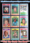 TOPPS 1976 FOOTBALL BLUE/GREY CARDS 1 TO 95 (G/F) *PLEASE SELECT CARDS*