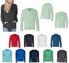 LADIES T-SHIRT HOODIE, HOODY, UNLINED, LIGHTWEIGHT, ZIP UP, COTTON/POLY, XS-3XL