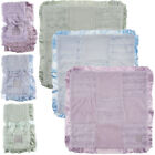 2pk Kathy Ireland Patchwork Baby Blankets Soft Security Lovey Blankie Satin Trim