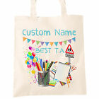 Best T.A Teaching Assistant Custom Name Tote Bag Personalised Thank You Teacher