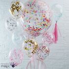 "Extra Large 12"" 36"" Confetti Multicoloured Wedding Party Latex Helium Balloons"