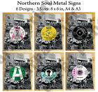 Northern Soul Metal Sign / Plaque, Wigan Casino Metal Sign, Northern Soul Record