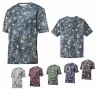 MEN'S MOISTURE WICKING, CREW, SHORT SLEEVE, PERFORMANCE PRINT T-SHIRT, XS-4XL